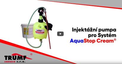 Použití injektážní pumpy